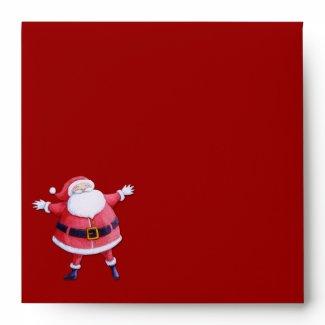 Santa Claus red Invitation Envelope envelope