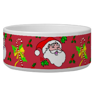 Santa Claus – Reindeer & Candy Canes Bowl