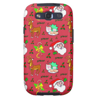 Santa Claus – Reindeer & Candy Canes Galaxy SIII Covers