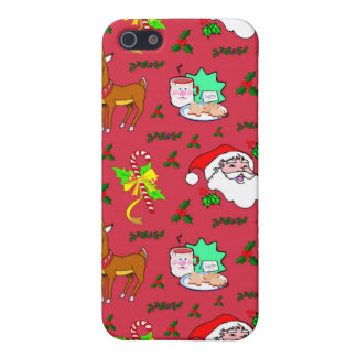 Santa Claus – Reindeer & Candy Canes Cover For iPhone SE/5/5s