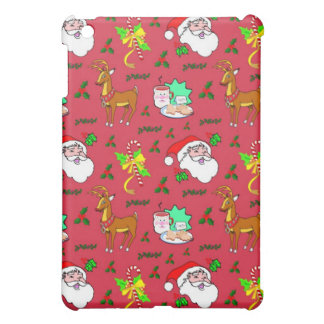 Santa Claus – Reindeer & Candy Canes iPad Mini Covers