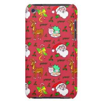 Santa Claus – Reindeer & Candy Canes iPod Case-Mate Case