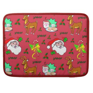 Santa Claus – Reindeer & Candy Canes Sleeve For MacBook Pro