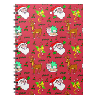Santa Claus – Reindeer & Candy Canes Notebooks