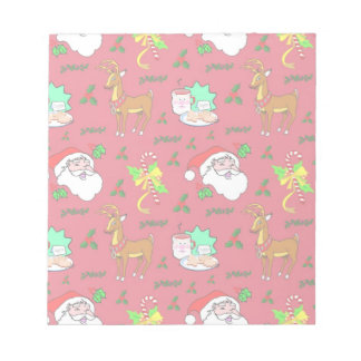 Santa Claus – Reindeer & Candy Canes Notepad