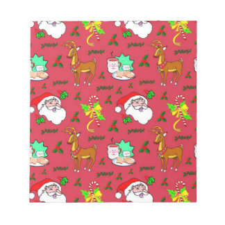 Santa Claus – Reindeer & Candy Canes Scratch Pad