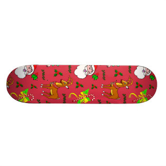 Santa Claus – Reindeer & Candy Canes Skate Board