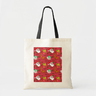 Santa Claus – Reindeer & Candy Canes Tote Bag