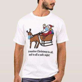 Santa Claus, Reindeer, & Quarantine Christmas, ZSD T-Shirt by Sandyspider