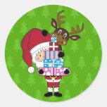 Santa Claus & Reindeer Sticker