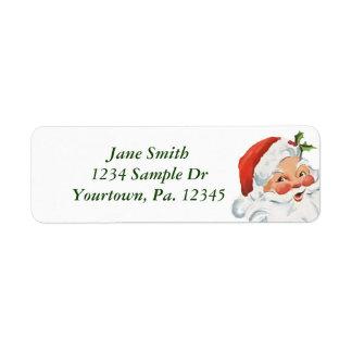 Santa Claus Return Address Label
