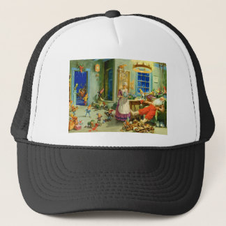 Santa Claus Returns Home for a Well-Deserved Rest Trucker Hat