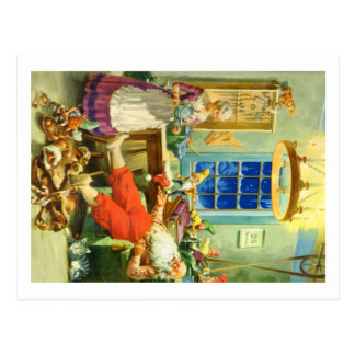 Santa Claus Returns to the North Pole Post Card