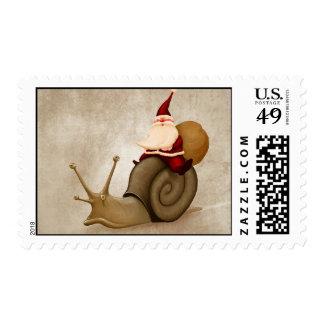 Santa Claus ride nail Postage Stamp