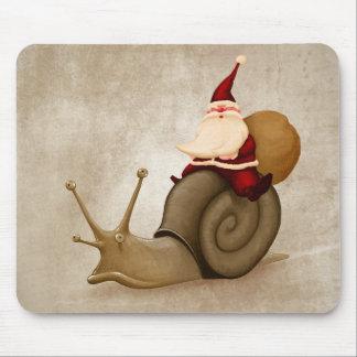Santa Claus rides a snail Mouse Pad