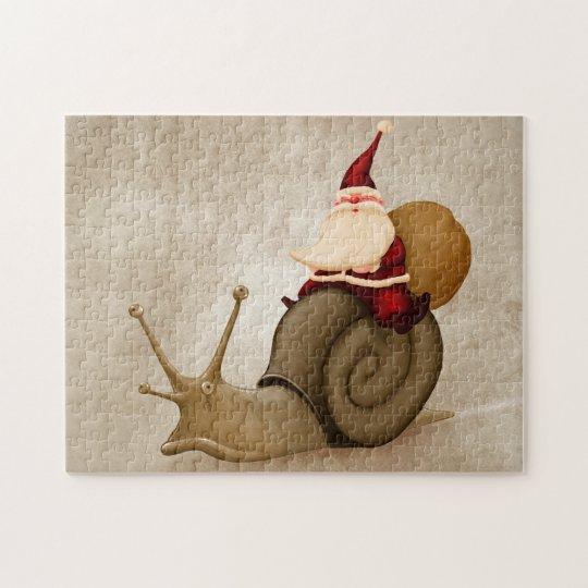 Santa Claus rides nail Jigsaw Puzzle