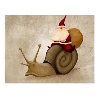 Santa Claus rides nail Postcard