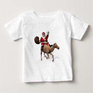 Santa Claus Riding A Camel Baby T-Shirt