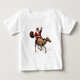 Santa Claus Riding A Camel Baby T-Shirt