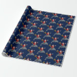 Santa Claus Riding A Dolphin Gift Wrap Paper