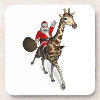 Santa Claus Riding A Giraffe Coaster