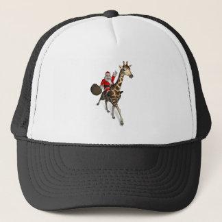 Santa Claus Riding A Giraffe Trucker Hat