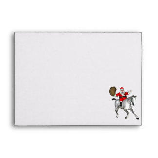 Santa Claus Riding A Grey Horse Envelopes