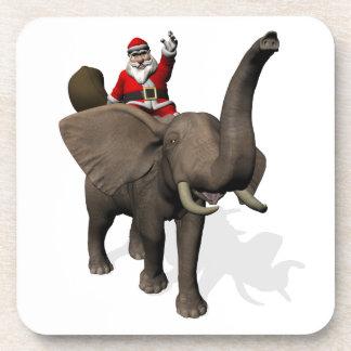 Santa Claus Riding On Elephant Coaster