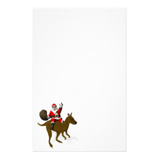 Santa Claus Riding On Kangaroo Stationery