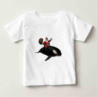 Santa Claus Riding On Orca Baby T-Shirt