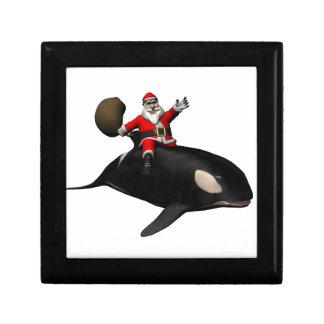 Santa Claus Riding On Orca Jewelry Box