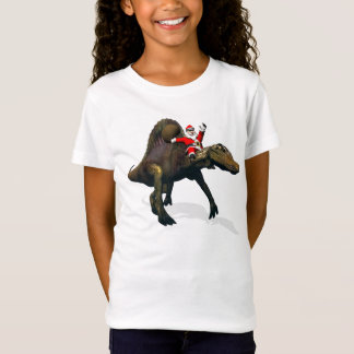 Santa Claus Riding On Spinosaurus T-Shirt