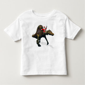 Santa Claus Riding On Spinosaurus Toddler T-shirt