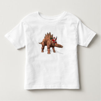 Santa Claus Riding On Stegosaurus Toddler T-shirt