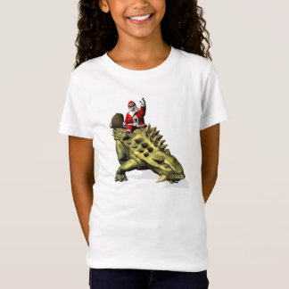 Santa Claus Riding On Talarurus T-Shirt