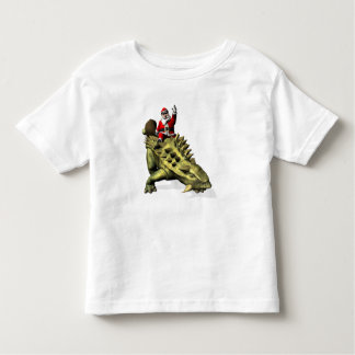 Santa Claus Riding On Talarurus Toddler T-shirt