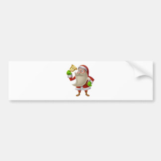 Santa Claus ringing a bell Bumper Stickers