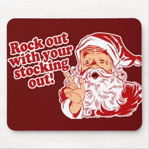 Santa Claus Rock Out Mouse Pads