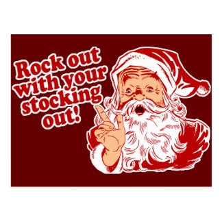 Santa Claus Rock Out Post Cards