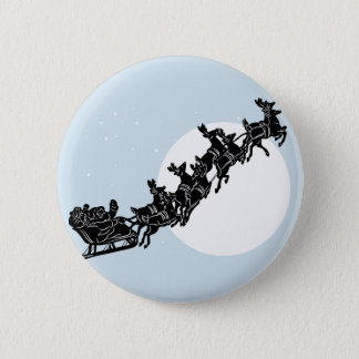 Santa Claus Round Button