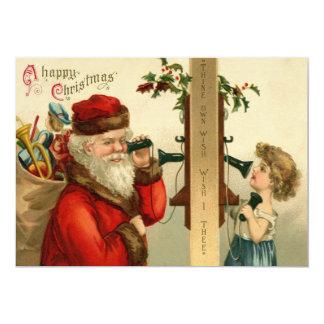 Santa Claus Sack of Toys Holly Phone Card
