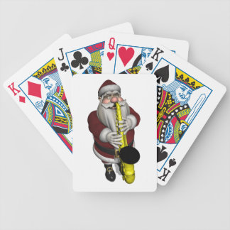 Santa Claus Saxophone Player Bicycle Playing Cards