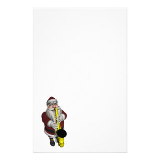 Santa Claus Saxophone Player Stationery