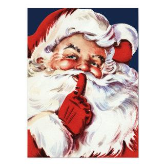 Santa Claus Saying SH-H-H Card