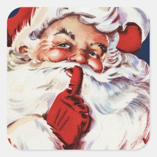 Santa Claus Saying SH-H-H Stickers