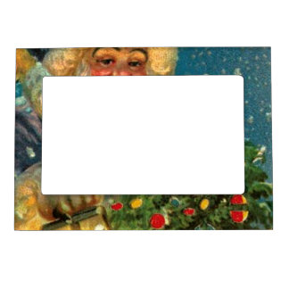 Santa Claus Sees You Christmas Fridge Magnet Frame