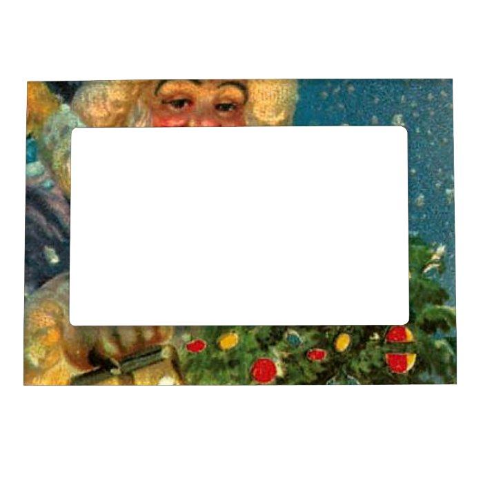 Santa Claus Sees You Christmas Fridge Magnet Frame