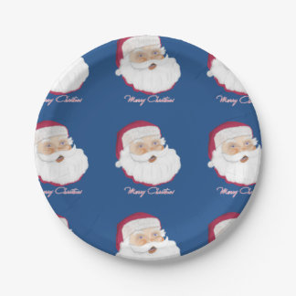 Santa Claus 7 Inch Paper Plate