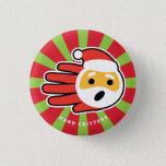 Hand shaped Santa Claus singing Christmas carols and songs Button