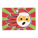 Hand shaped Santa Claus singing Christmas carols and songs Placemat